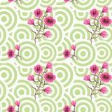 Japanese wave oriental seamless pattern. Stock Photo