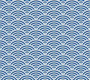 Japanese wave pattern Royalty Free Stock Image