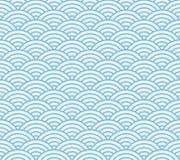 Japanese wave pattern stock illustration