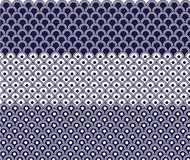 Japanese wave pattern Stock Images