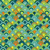 Japanese Wave Seamless Pattern Stock Photography