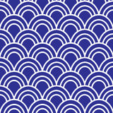 Japanese Wave Seamless Pattern Royalty Free Stock Photo