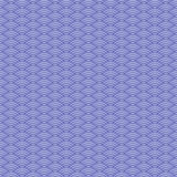 Japanese wave. Seamless pattern with volumetric shadows Royalty Free Stock Photography