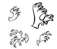 Japanese wave tattoo design isolate vector Royalty Free Stock Photography
