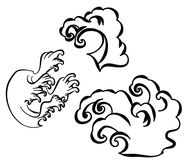 Japanese wave tattoo design isolate vector Stock Photography