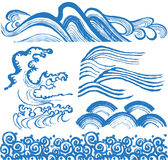 Japanese waves. Royalty Free Stock Image
