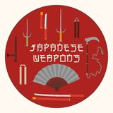 Japanese weapons set Stock Images