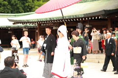 Japanese Wedding ceremony Stock Photos