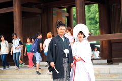 Japanese Wedding ceremony Royalty Free Stock Photo