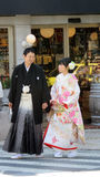 Japanese wedding couple in Nagano Royalty Free Stock Images