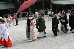 Japanese Weding. At Meiji Temple Stock Photography