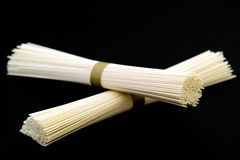 Japanese white wheat noodles Stock Photos