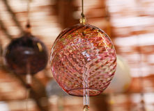 Japanese wind-bell. Scenery of the wind-bell of the Japanese glass Royalty Free Stock Photography