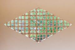 Japanese window wooden grate diamond-shaped quadrangle. Stock Photos