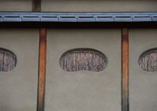 Japanese windows with bamboo strips background royalty free stock photos