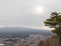 Japanese winter landscape Royalty Free Stock Images