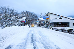 Japanese winter street Royalty Free Stock Photo
