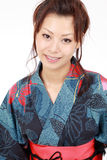 Japanese woman with clothing kimono Stock Image