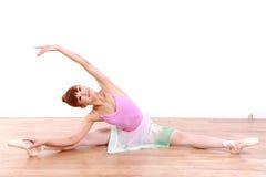 Japanese woman dances ballet Royalty Free Stock Photography