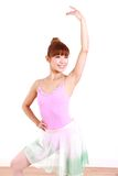 Japanese woman dances ballet Stock Photography