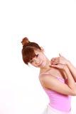 Japanese woman dances ballet Royalty Free Stock Photos