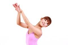 Japanese woman dances ballet Stock Image