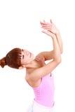 Japanese woman dances ballet Stock Images