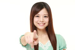 Japanese woman decided Stock Images