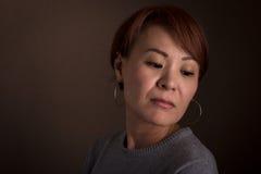Japanese Woman Headshot Royalty Free Stock Photos