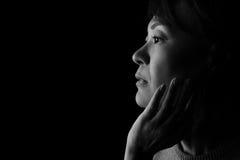 Japanese Woman Headshot Stock Image