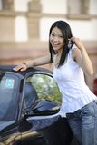 Japanese woman with her new car Stock Photos