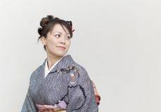 Japanese woman in a kimono Stock Image