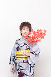 Japanese woman in a kimono Royalty Free Stock Photo