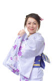 Japanese woman in a Kimono Stock Image