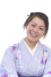 Japanese woman in a Kimono Stock Photo