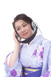 Japanese woman in a Kimono Stock Images