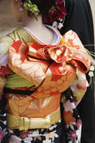 Japanese Woman in Kimono and Elaborate Obi Royalty Free Stock Image
