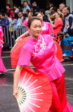 Japanese woman in parade in melbourne Royalty Free Stock Images
