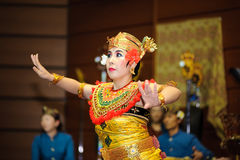 A Japanese woman perform Bali dance Stock Photos