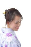 Japanese woman in profile Stock Images