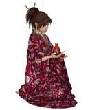 Japanese Woman with Saki Jug Stock Image
