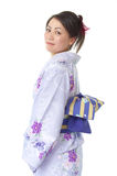 Japanese woman from the side Royalty Free Stock Photography