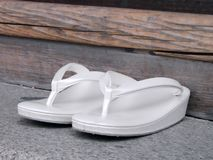 Japanese woman slippers Stock Image