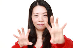 Japanese woman with supernatural power Royalty Free Stock Photography