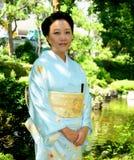 Japanese Woman Wearing Kimono Stock Photo