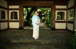 Japanese Woman Wearing Kimono Royalty Free Stock Image
