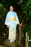 Japanese Woman Wearing Kimono Royalty Free Stock Photography
