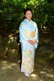 Japanese Woman Wearing Kimono Royalty Free Stock Photography