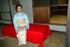 Japanese Woman Wearing Kimono Royalty Free Stock Photo
