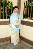 Japanese Woman Wearing Kimono Royalty Free Stock Images